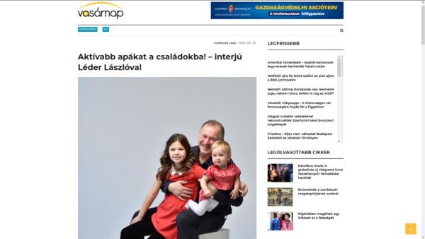 Aktívabb apákat a családokba! – interjú Léder Lászlóval